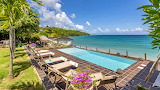 Luxury pool and garden with sea view, Martinique