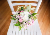 Pretty Bouquet on Chair