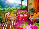Terrasse en couleurs