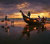 Fishermen Sunrise Vietnam