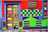 Colours-colorful-house-door-cat-Burano-Italy-Fulvio-Roiter
