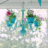 Chandelier flower hanging