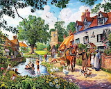Busy Country Village