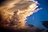 Space NASA Clouds, Birds, Moon