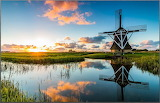 Netherlands at Sunset