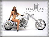 Bike And Hot Babe 8187 1024x768 Sexy Wallpaper