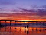 Sunset pier Ocean Beach San Diego