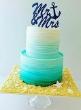 Beach wedding cake @ Sugarlily cakes