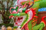Dragon, temple, Buddhism, religion, Thailand