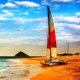 Boat on Oahu Beach...
