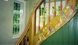 Murnau, Stairs painted by Kandinsky