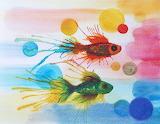 ^ Fish watercolor