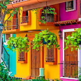 💚Colorful Buildings, Puerto Vallarta, Mexico...