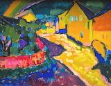 Wassily Kandinsky: Murnau – Landscape with Rainbow (1909)