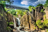 Great Falls and Bridge Patterson New Jersey USA