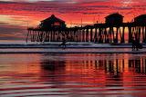 Huntington Beach California Sunset USA