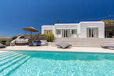 Luxury traditional white villa and pool, Greek islands