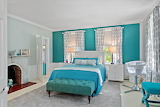 Teal and Blue Bedroom