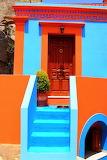 Greece-orange-blue-home