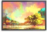 Colorful Crayon Landscape