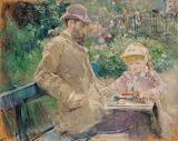 Morisot, Manet et sa fille dans le jardin de Bougival, 1881