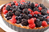 ^ Summer Berry and Coconut Pudding Tart