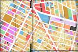 city plan manhattan detailed striped