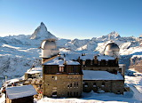 Resort and Observatory in the Titlis Mountains Switzerland