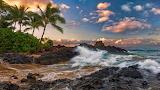 US-State-Hawaii-Maui-Island-Ocaen-Rocks-Wallpaper
