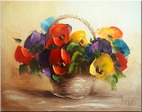 Pansies in the basket by E.Bartosik