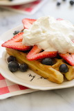 ^ Red, white and blue waffles