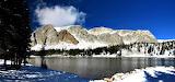 Panorama Mirror Lake Snowy Range Wyoming USA