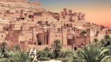 Baking hot Ksar of Ait-Ben-Haddou Morocco