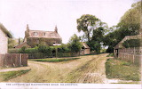Silchester - Cottage-and-Basingstoke-Road-Colorized