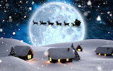 Deer Winter Houses Night Moon Sled Santa Claus 558548 1280x800