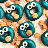 #Cookie Monster Donuts