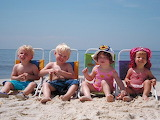 Babies on beach