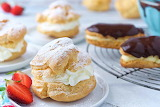 ^ Cream Puffs and Chocolate Eclairs