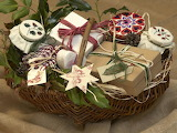 ^ Homemade Christmas gifts in basket