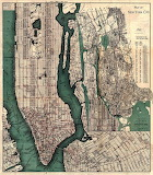 Map of New York City, USA