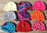Colorful yarn hats