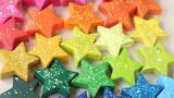 Star-shaped glitter crayons