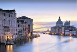 Blue Hour Grand Canal Venice Italy