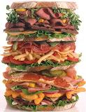huge amounts of food
