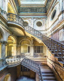 Abandoned pastel staircase