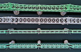Aerial Hangang Railway Bridge over river Han Seoul