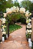 Beautiful rustic arch