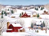 Christmas Farm Scene ~ Colleen Eubanks