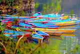 Various small 186 colourful boats