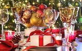 Glass presents ornaments